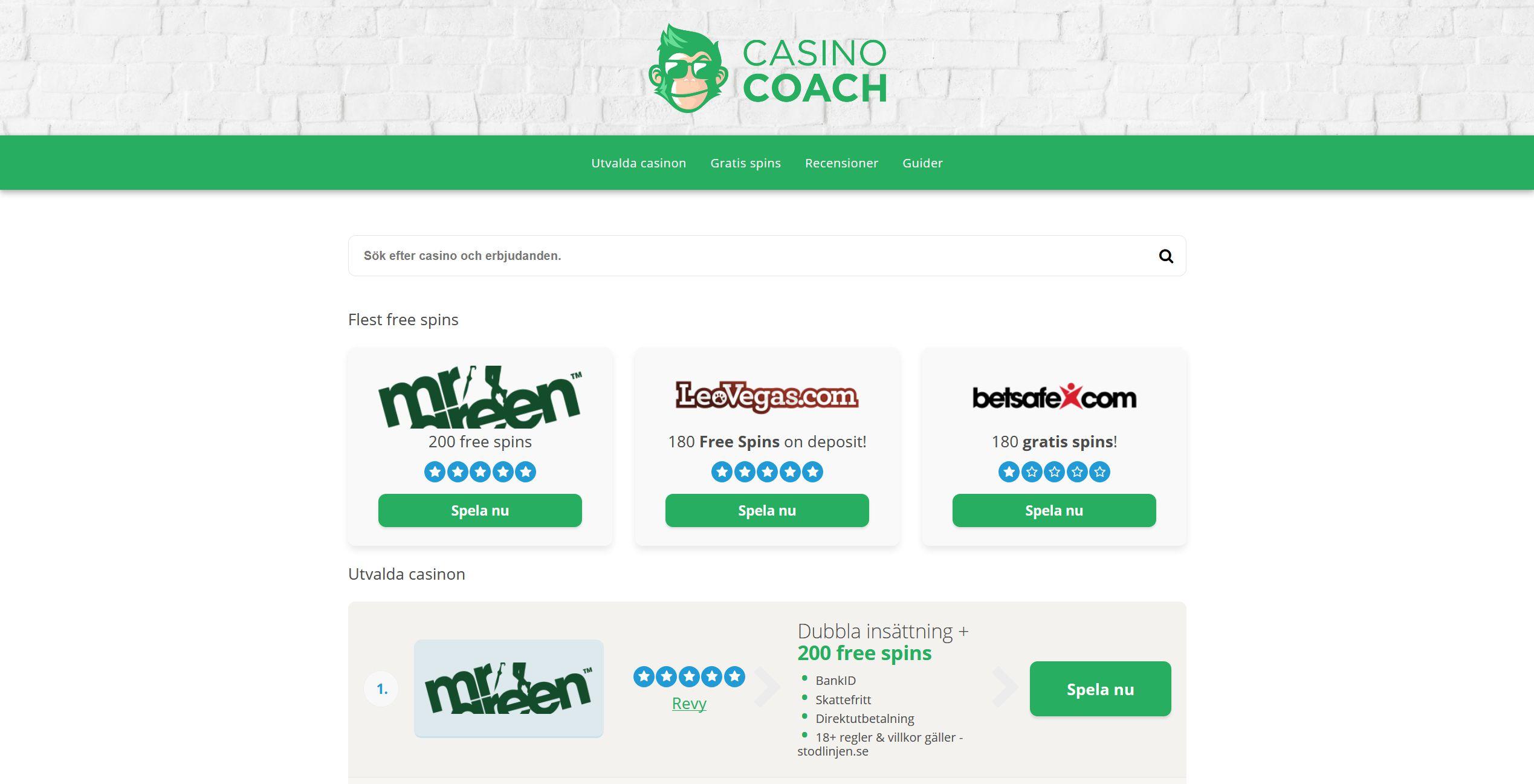 Casino Coach