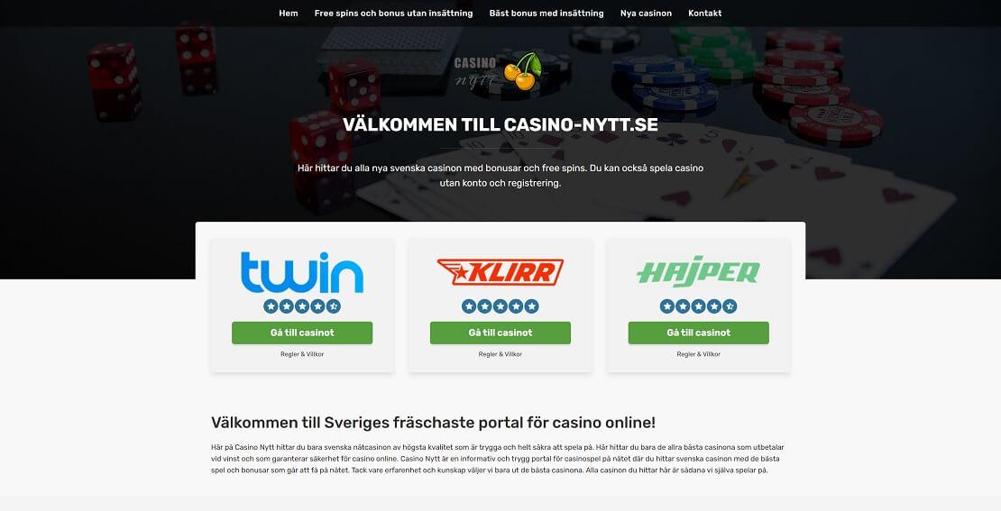 Casino Nytt