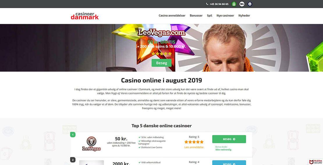 Casinoer Danmark