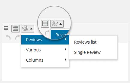 Shortcodes editor