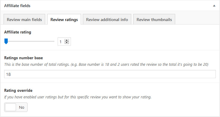 User ratings/comments