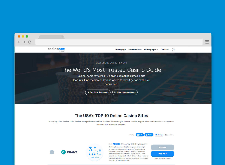 CasinoAce - High CTR Gambling WordPress Theme